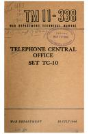 Cover of: Telephone Central Office Set TC-10