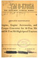 Cover of: Engine, Engine Accessories and Torque Converter for 18-Ton M4 and 38-Ton M6 High Speed Tractors